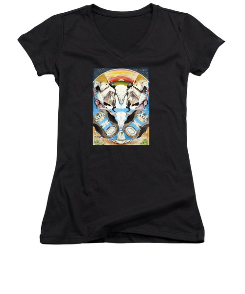 Icons Of The Panhandle Women's V-Neck T-Shirt