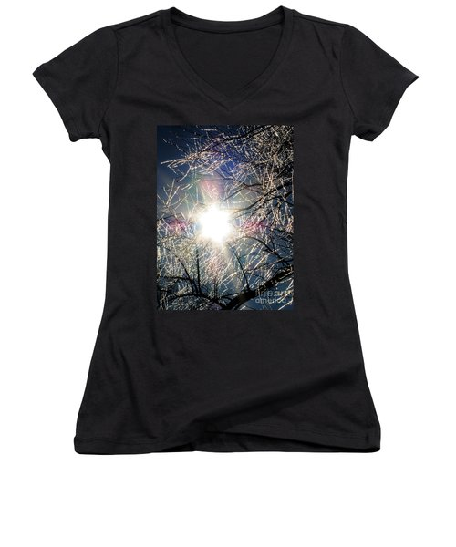 Icy Web Women's V-Neck T-Shirt