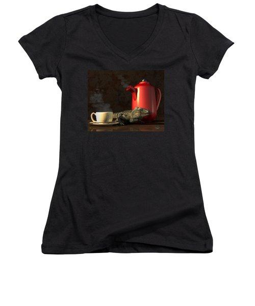 Iguana Coffee Women's V-Neck