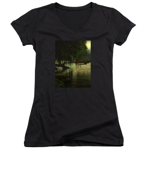 I'll Be Waiting Women's V-Neck T-Shirt (Junior Cut) by RC deWinter