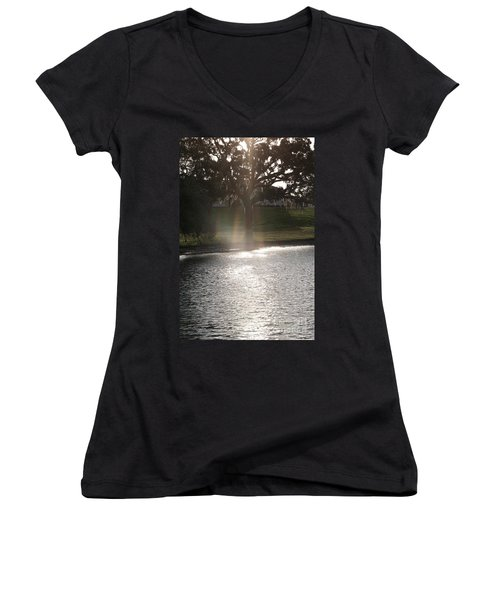 Illuminated Tree Women's V-Neck