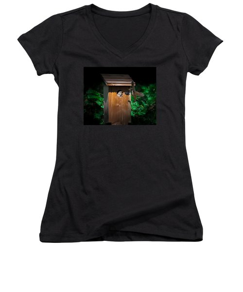 I'm Hungry Women's V-Neck T-Shirt (Junior Cut) by Kenneth Cole