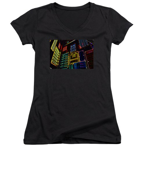 In A Neon-box Women's V-Neck (Athletic Fit)