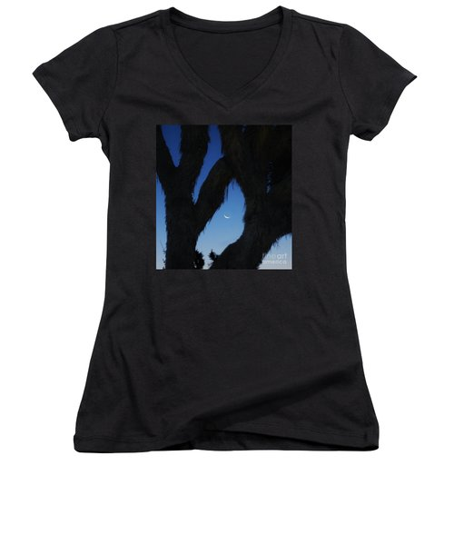 Women's V-Neck T-Shirt (Junior Cut) featuring the photograph In-between by Angela J Wright