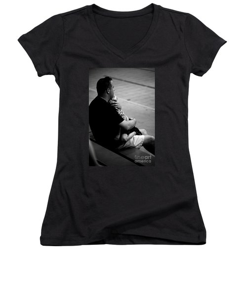 In Daddy's Arms Women's V-Neck