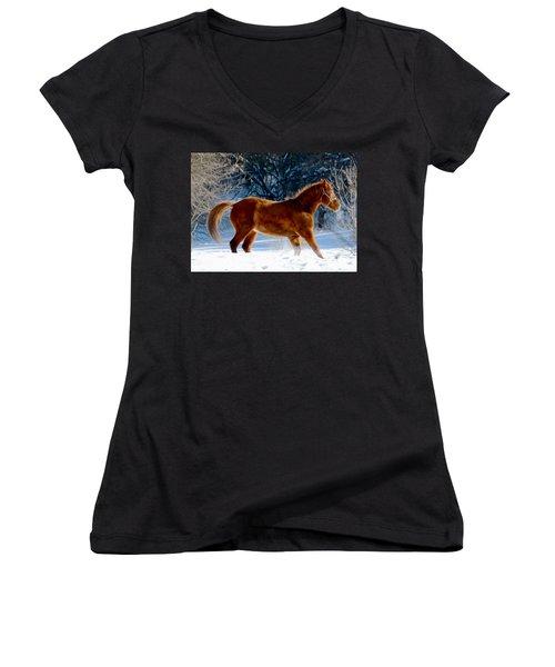 In Motion Women's V-Neck T-Shirt