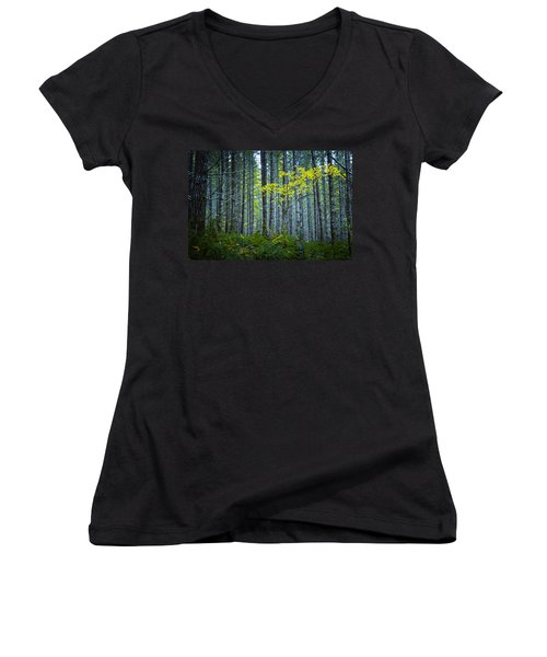 In The Woods Women's V-Neck
