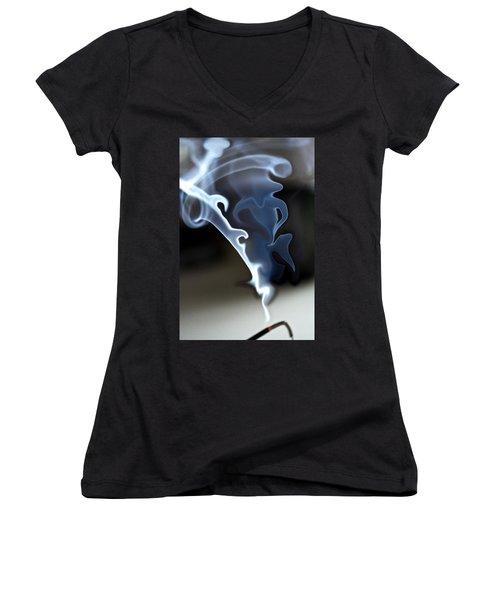 Incense Smoke Dance - Smoke - Dance Women's V-Neck T-Shirt
