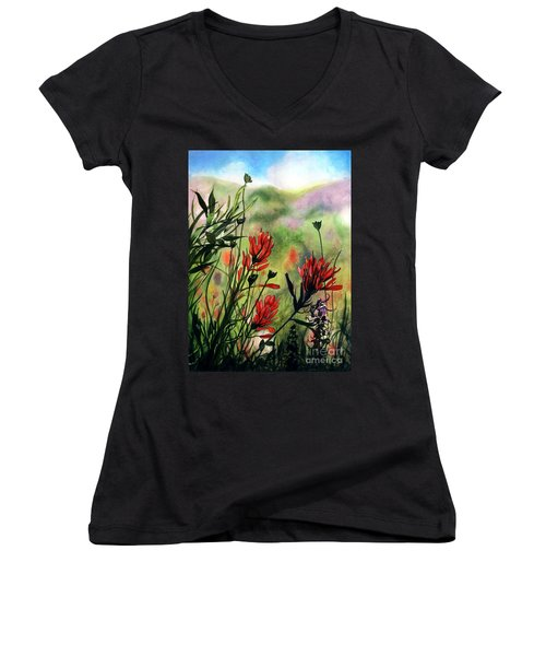Indian Paint Brush Women's V-Neck T-Shirt