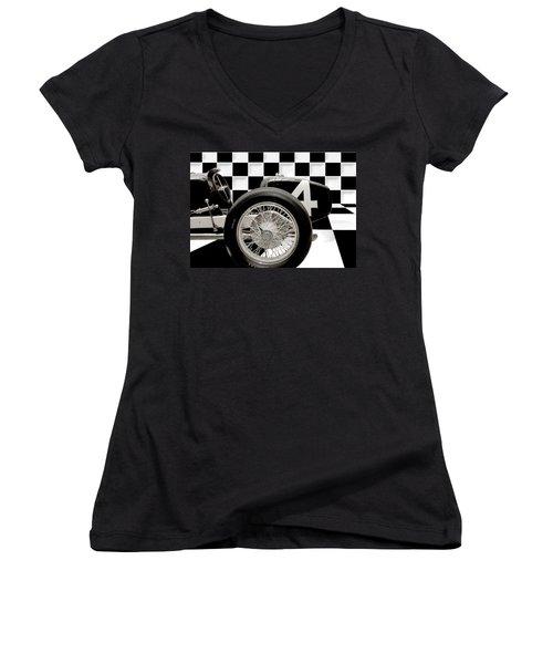 Indianapolis Motor Speedway Women's V-Neck T-Shirt