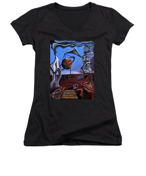 Infatuasilaphrene Women's V-Neck T-Shirt