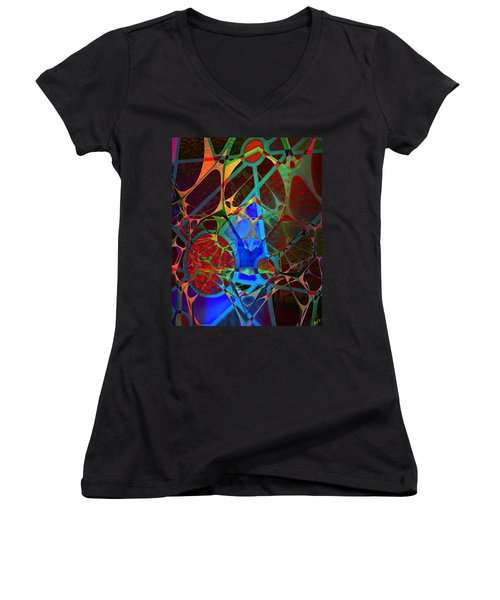Inside Out Women's V-Neck T-Shirt (Junior Cut) by Ally  White
