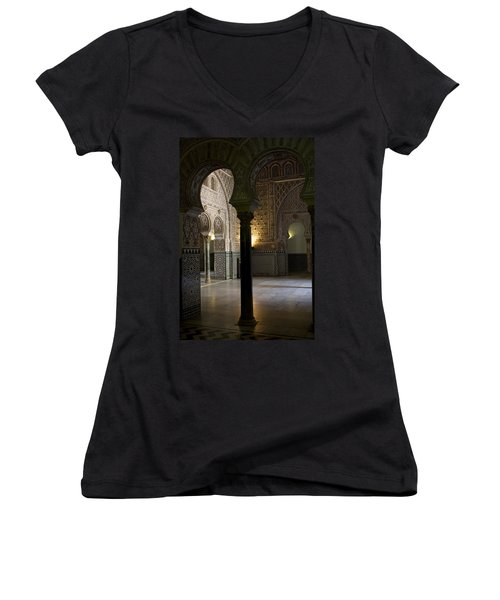 Inside The Alcazar Of Seville Women's V-Neck (Athletic Fit)