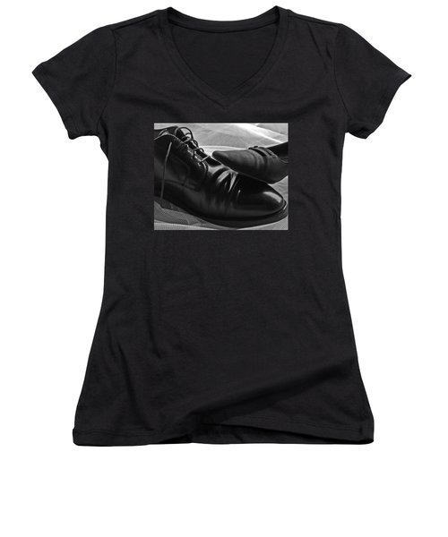 Women's V-Neck T-Shirt (Junior Cut) featuring the photograph Instep by Lisa Phillips