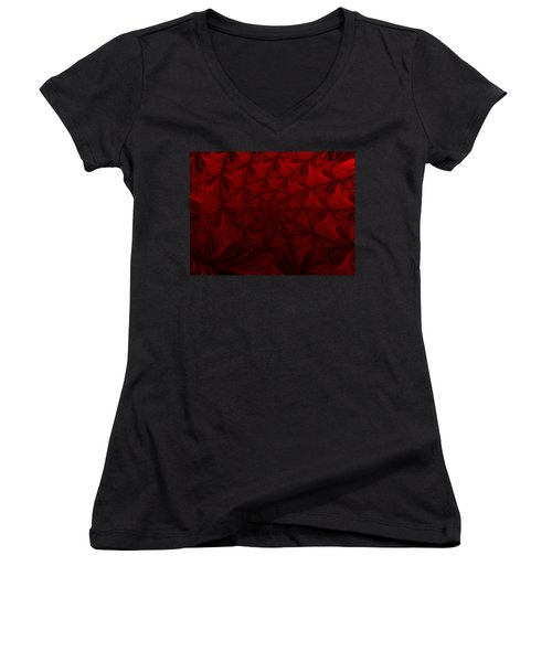 Women's V-Neck T-Shirt (Junior Cut) featuring the digital art Into The Dream by Elizabeth McTaggart