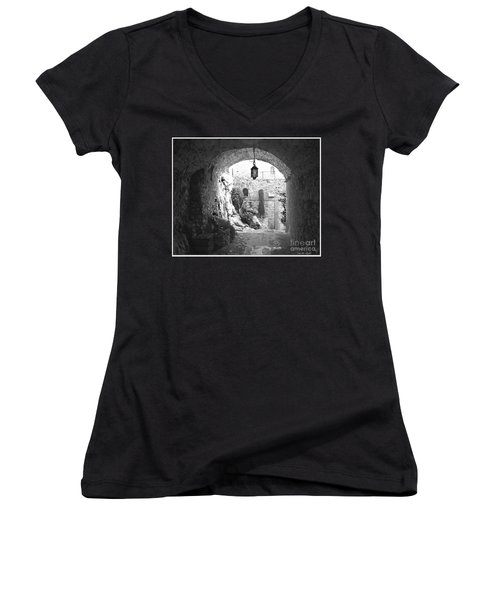 Into The Light Women's V-Neck T-Shirt (Junior Cut) by Victoria Harrington