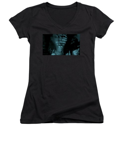 Women's V-Neck T-Shirt (Junior Cut) featuring the photograph Into The Lull  by Jessica Shelton