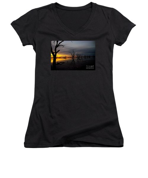 Into The Night Women's V-Neck