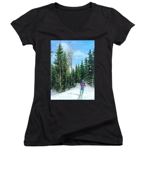 Into The Woods Women's V-Neck T-Shirt