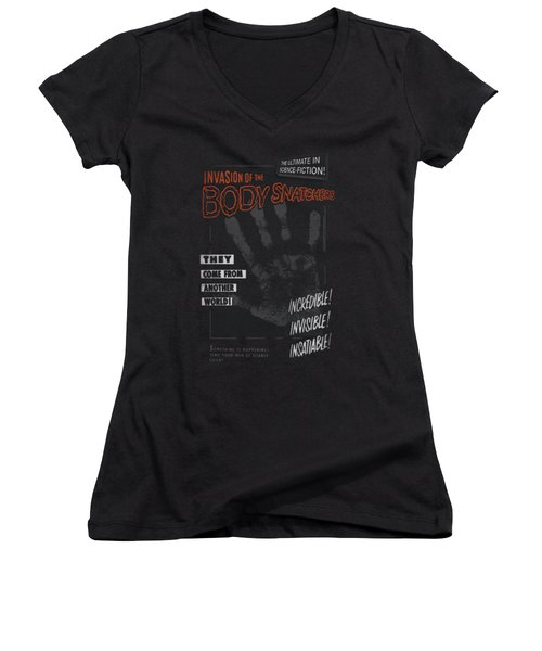 Invasion Of The Body Snatcher - Run Poster Women's V-Neck (Athletic Fit)