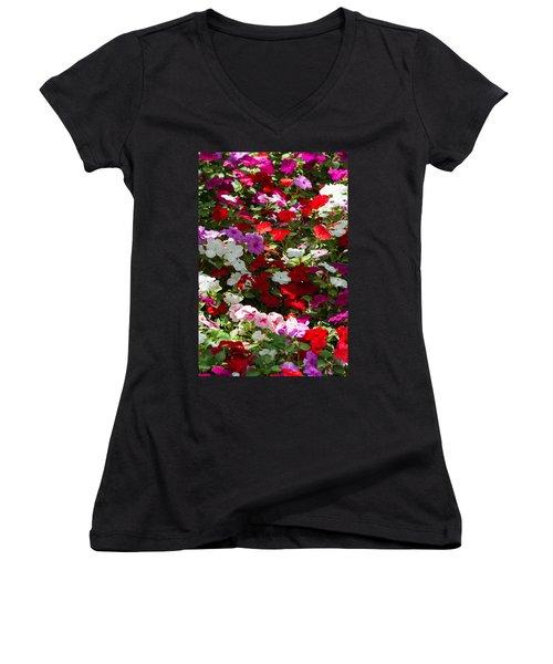 iPhone Case - Summer Carpet Women's V-Neck T-Shirt (Junior Cut) by Alexander Senin