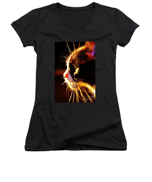 Irie Cat Women's V-Neck (Athletic Fit)