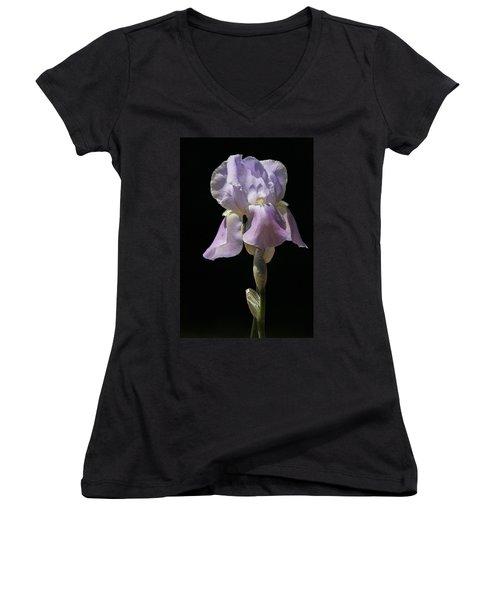 Iris Women's V-Neck T-Shirt (Junior Cut) by Trina  Ansel