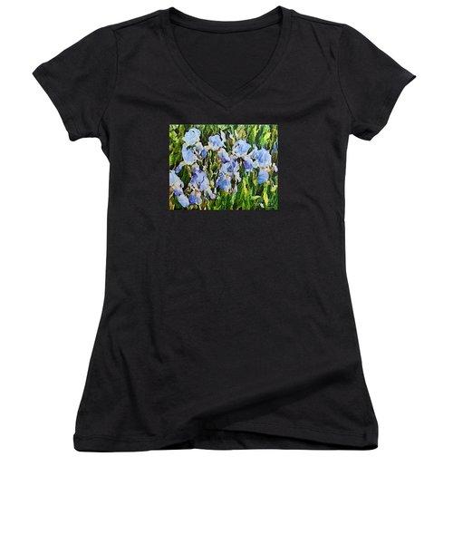 Irises Women's V-Neck T-Shirt (Junior Cut)