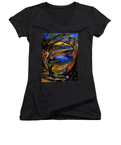 Island Waters St. Kitts Women's V-Neck (Athletic Fit)