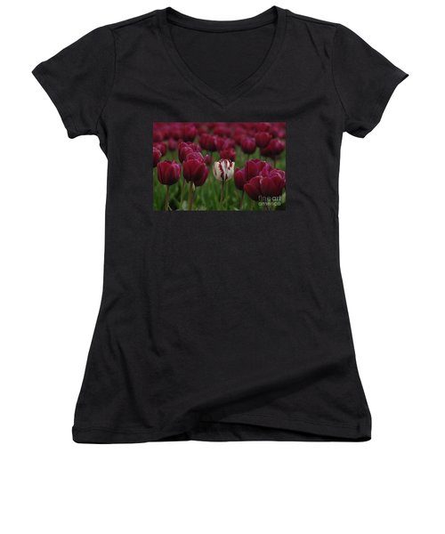 It Is Beautiful Being Different Women's V-Neck T-Shirt (Junior Cut) by Bob Christopher