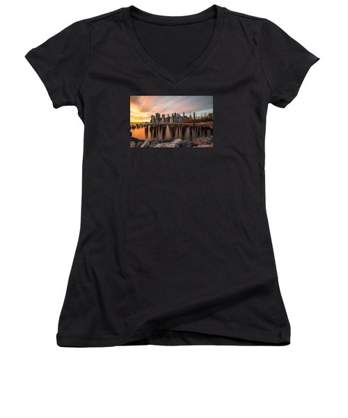 Its A New Year  Women's V-Neck T-Shirt (Junior Cut) by Anthony Fields