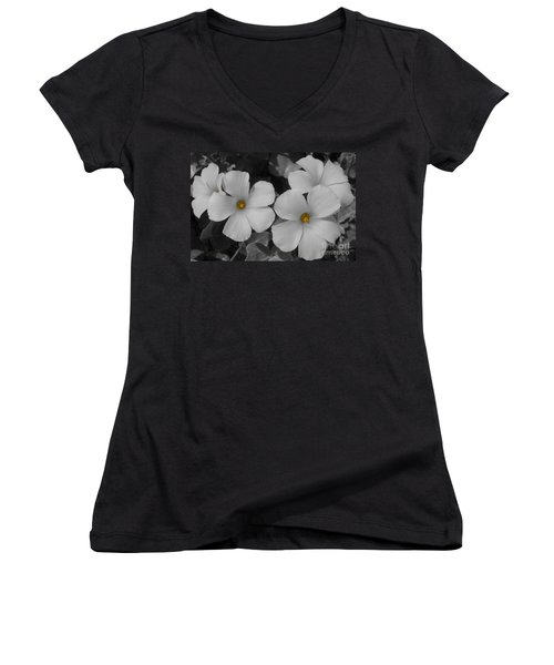 Its Not All Black And White Women's V-Neck T-Shirt (Junior Cut) by Janice Westerberg
