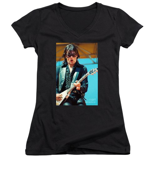 Jay Geils Of The J Geils Band- Day On The Green July 4th 1979 Women's V-Neck (Athletic Fit)
