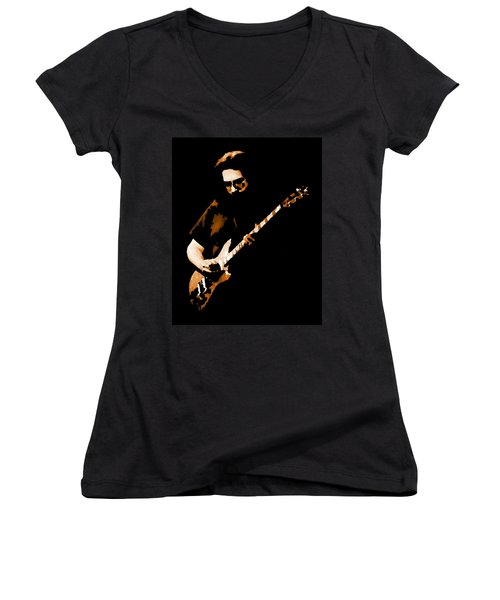 Jerry And His Guitar Women's V-Neck