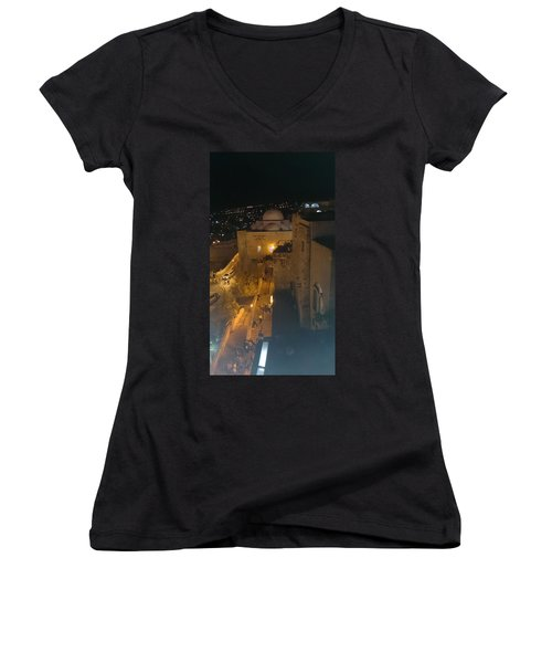 Jerusalem The Old City  Women's V-Neck T-Shirt