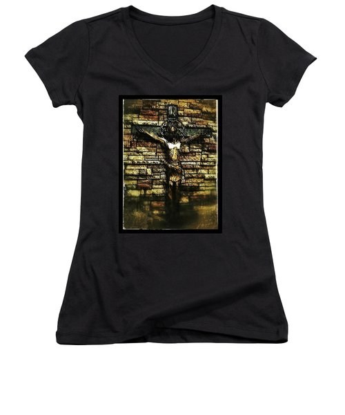 Jesus Coming Into View Women's V-Neck