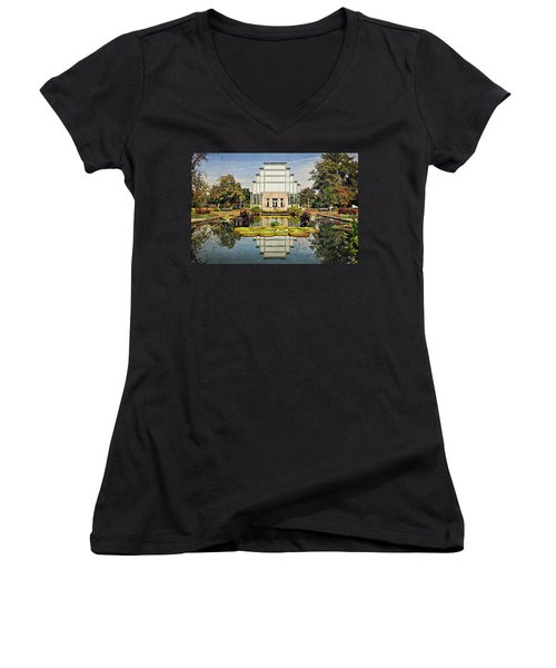 Women's V-Neck T-Shirt (Junior Cut) featuring the photograph Jewel Box 1 by Marty Koch