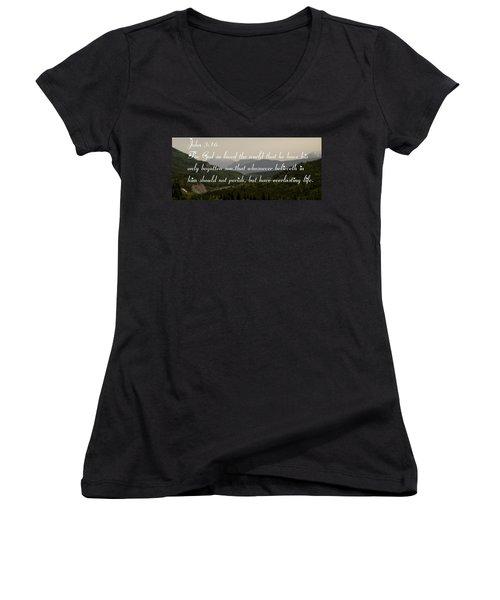 John Three Sixteen Women's V-Neck T-Shirt