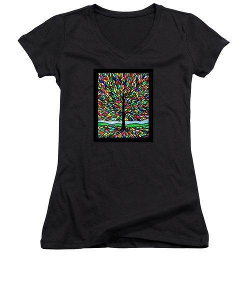 Joyce Kilmer's Tree Women's V-Neck (Athletic Fit)