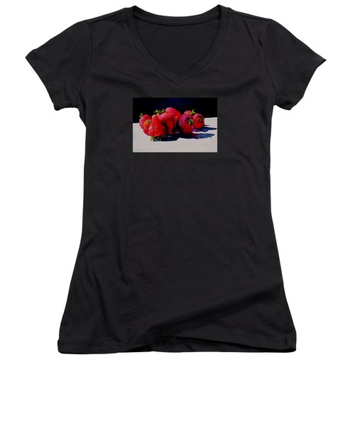 Juicy Strawberries Women's V-Neck T-Shirt