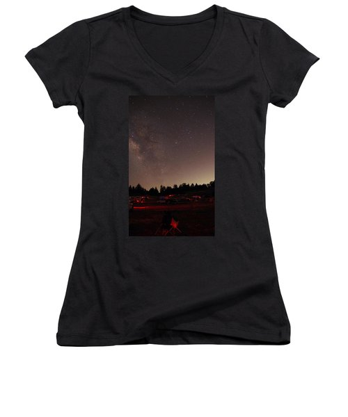 Julian Night Sky Milky Way Women's V-Neck (Athletic Fit)