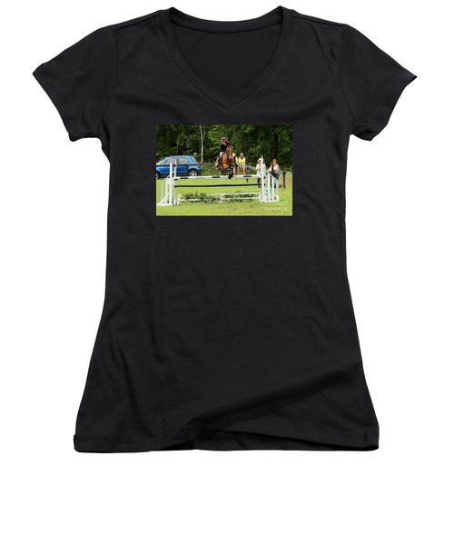 Jumping Eventer Women's V-Neck
