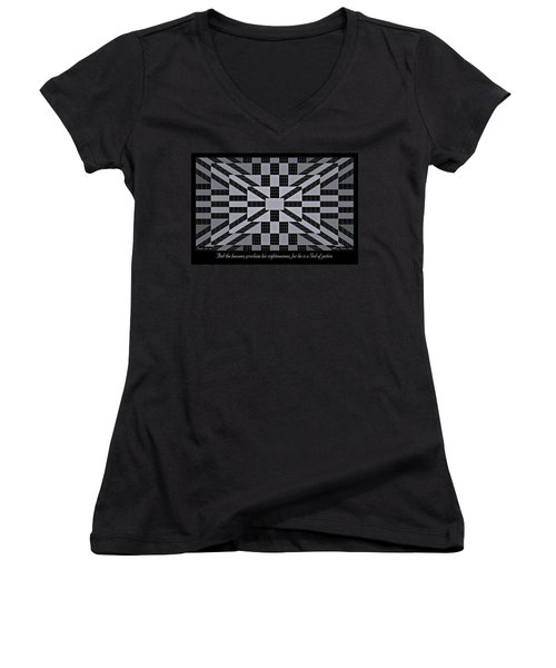 Women's V-Neck featuring the digital art Justice by Missy Gainer