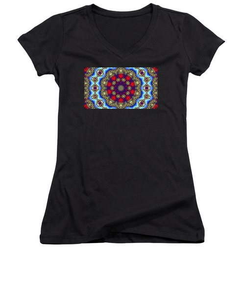 Kaleidoscope 51 Women's V-Neck T-Shirt