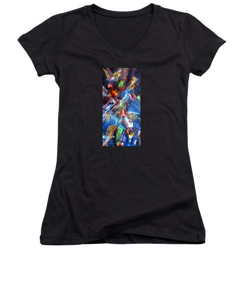 Kaleidoscope Women's V-Neck (Athletic Fit)