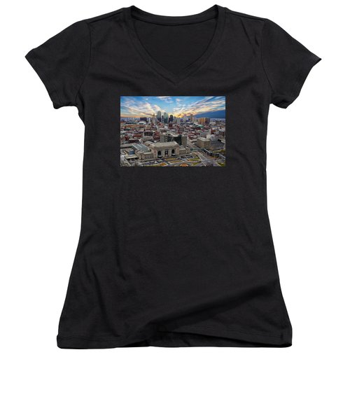 Kansas City Skyline Women's V-Neck