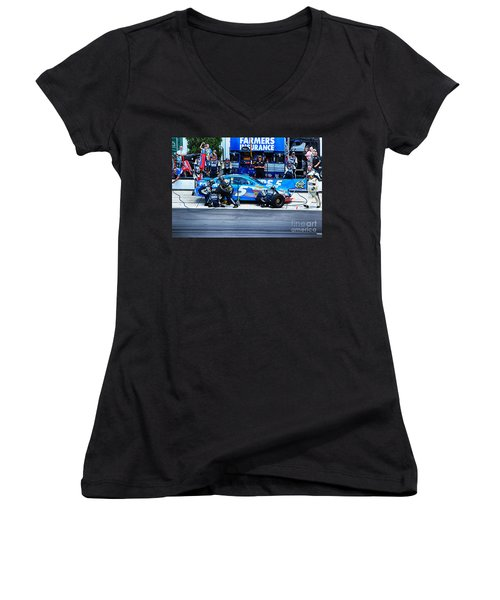 Kasey Kahne's Last Stop Before Victory Women's V-Neck (Athletic Fit)