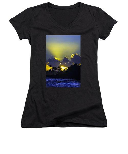Kauai Sunset Women's V-Neck T-Shirt