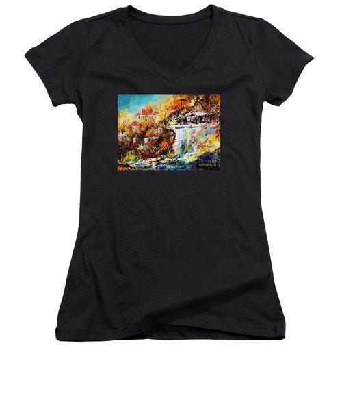 Kazimierz Nad Wisla  Women's V-Neck T-Shirt