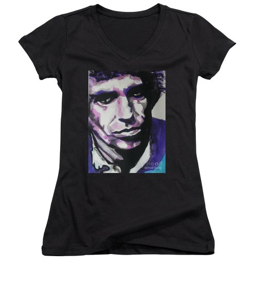 Keith Richards Women's V-Neck T-Shirt